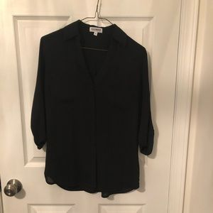 Black express portofino shirt